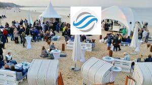 Winter StrandKlub Party mit Blick auf die Ostsee