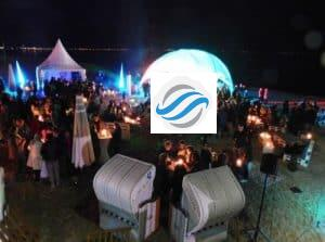 Abendliche Winter StrandKlub Party